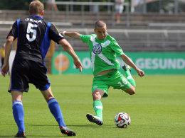 Nicht nur sein direkter Torabschluss ist gefürchtet: Wolfsburgs Amin Affane