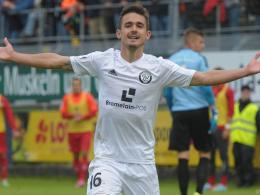 Jubelt in Zukunft für Saarbrücken: Dominik Rohracker kommt aus Elversberg.