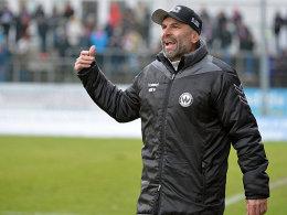 Burghausens Trainer Uwe Wolf