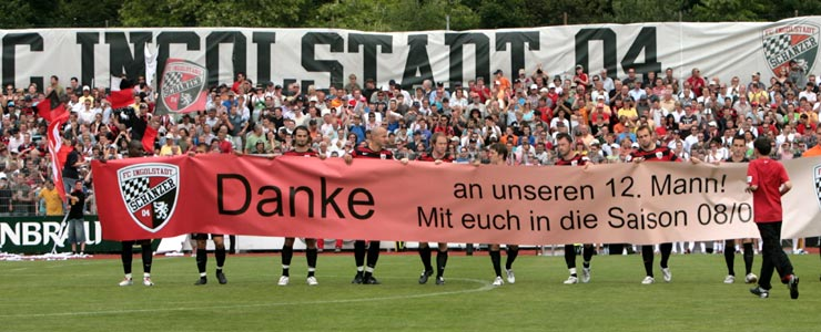 Der FC Ingolstadt bedankt sich bei den Fans