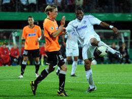 Farfan trifft zum 1:0 für Schalke in Aalen