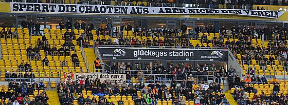 Bleibt gegen Ingolstadt komplett leer: Das Stadion in Dresden.