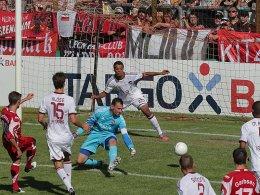 Der Siegtreffer in der Verlängerung: Havelses Vucinovic erzielt das 3:2 gegen Nürnberg.
