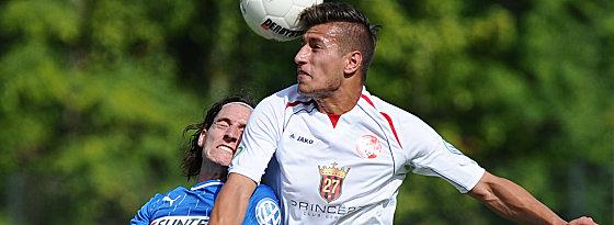 Unterlegen: Hoffenheims Sebastian Rudy (li.) gegen BAK-Akteur Philip Malinowski.