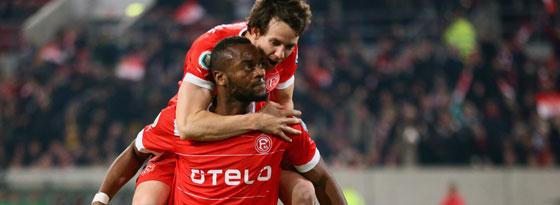 Düsseldorfs Nando Rafael besorgte das 1:0 für die Fortunen gegen Gladbach.