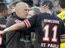 Daniel Ginczek ist verletzt, Trainer Michael Frontzeck muss umplanen.