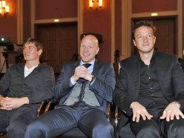 Toni Kroos, Matthias Sammer und Fredi Bobic (v.l.).