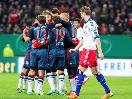 Bayern siegte klar beim Hamburger SV.