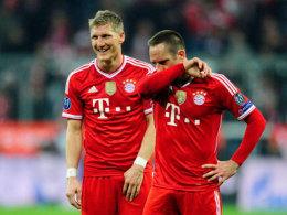 Bastian Schweinsteiger und Franck Ribery werden beim DFB-Pokal-Finale nicht im Vollbesitz ihrer Kräfte sein.