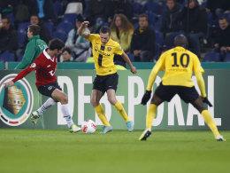 Rückkehr: Letztmals trat Dynamo Dresden im Oktober 2012 im DFB-Pokal an, damals gegen Hannover 96.