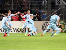5:4 in der 119. Minute - aber nicht das Ende: Marco Kehl-Gomez feiert sein Tor.