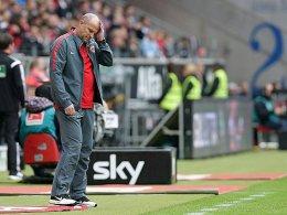 Unzufrieden: Eintracht-Trainer Thomas Schaaf.