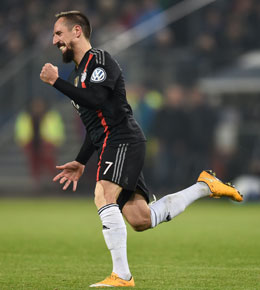 Er machte in Hamburg fr�h alles klar: Franck Ribery.