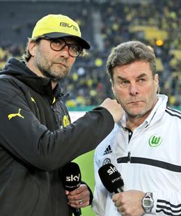 J�rgen Klopp und Dieter Hecking