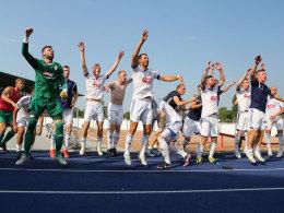 Ekstase in Thüringen: Regionalligist Jena sorgte gegen den HSV für die große Pokalüberraschung am Sonntag.