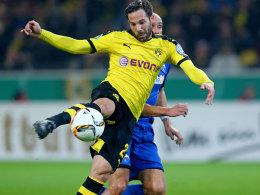 Dortmunds Castro war an fast allen fünf Dortmunder Toren beteiligt. Hier erzielt er das zwischenzeitliche 2:1.