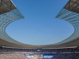 Schauplatz des Finals, und diesmal auch eines Halbfinals: das Berliner Olympiastadion.