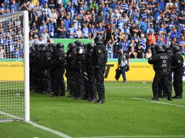 Lob f�r Polizei nach Fan-Ausschreitungen in Magdeburg