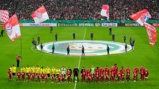 Die beiden derzeit besten deutschen Mannschaften trafen im DFB-Pokalviertelfinale in M�nchen aufeinander.