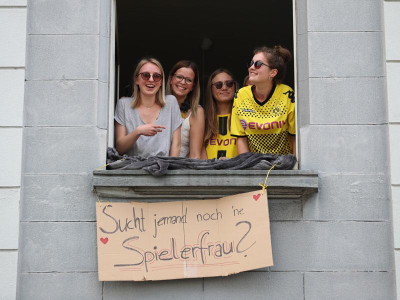 So feiert Dortmund: Der BVB schwebt ein