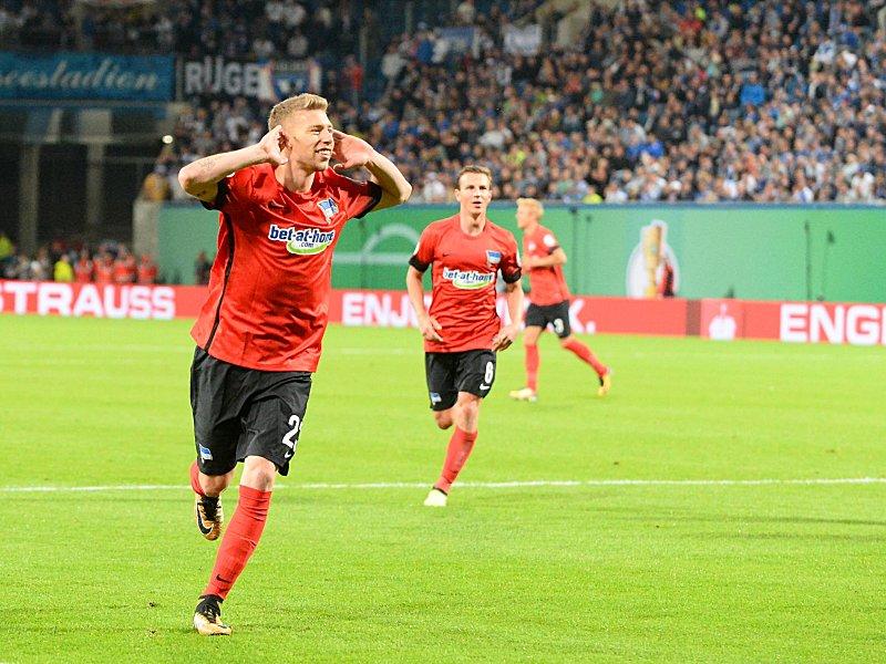 Hansa Rostock - Hertha BSC 0:2, DFB-Pokal, Saison 2017/18 ...