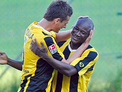 Lukasz Szukala und Hervé Oussale (Alemannia Aachen)