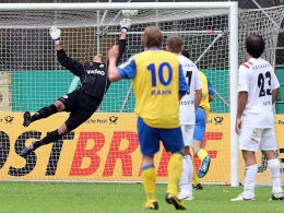 Stephan Rahn trifft per Freistoß zum 1:0