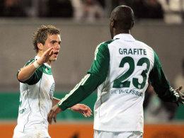 Peter Pekarik und Grafite (VfL Wolfsburg)