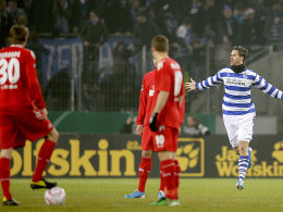 Goldener Treffer: Maierhofer (re.) bejubelt seinen Treffer