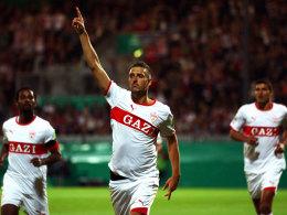 Zdravko Kuzmanovic jubelt über sein Tor zum 2:1