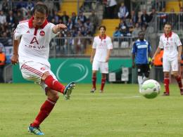 Technisch perfekt: Markus Feulner schoss den Club mit drei Toren aus der Distanz in die zweite Runde.