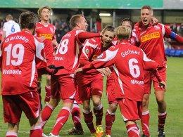Der TSV Havelse jubelt über die 1:0-Führung