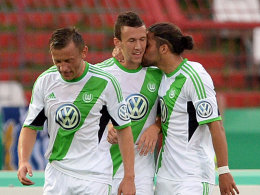 Olic (li.), Perisic, Rodriguez (re.)