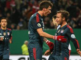 Freude pur: Mandzukic und Götze (re.) bejubeln das 1:0.