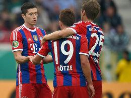 Robert Lewandowski, Mario Götze und Thomas Müller