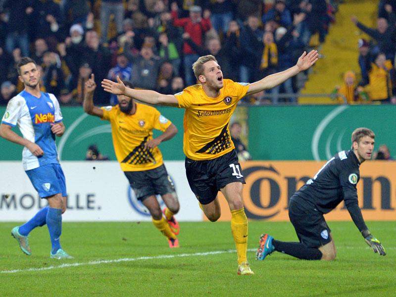 Jubelsturm: Justin Eilers traf gegen Bochum gleich zweimal und machte damit letztlich den Unterschied.