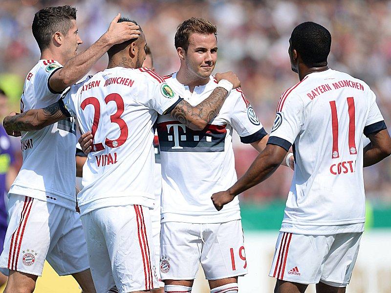 Fc Nöttingen Bayern München Dfb Pokal Saison 201516 1spieltag