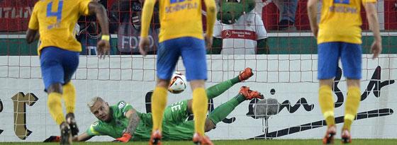 War auch vom Punkt nicht zu überwinden: BTSV-Keeper Rafal Gikiewicz machte ein tolles Spiel.