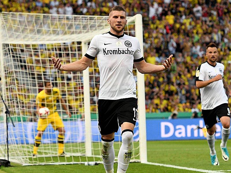 Programm Aufstellung Pokal Finale 2017 Eintracht Frankfurt Borussia Dortmund