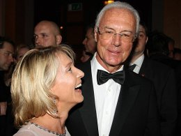 Franz Beckenbauer mit Ehefrau Heidi