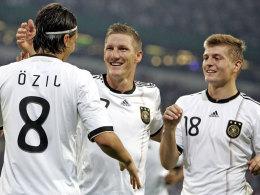 Özil, Schweinsteiger und Kroos