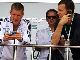 Bastian Schweinsteiger und Manager Oliver Bierhoff