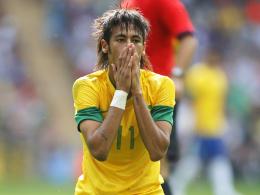 Fassungslos: Brasiliens Superstar Neymar.