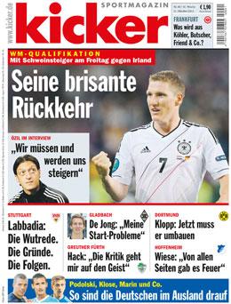Aktuelle Ausgabe des kicker sportmagazin vom 11.10.2012
