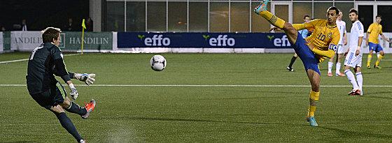 Schwedens Kapitän Zlatan Ibrahimovic.