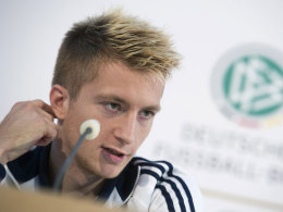 Marco Reus auf der DFB-Pressekonferenz am Sonntag