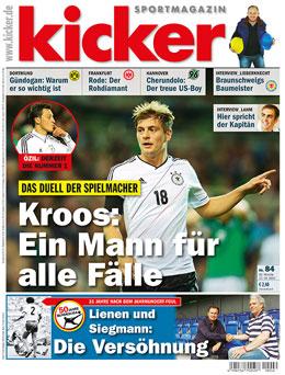 Aktuelle Ausgabe des kicker sportmagazin vom 15.10.2012