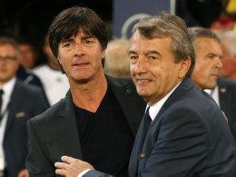 Joachim Löw und Wolfgang Niersbach (re.)