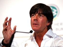 Bundestrainer Joachim Löw am Dienstag auf der DFB-Pressekonferenz