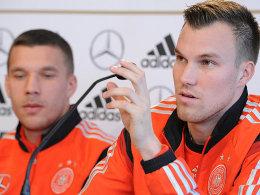 Lukas Podolski und Kevin Großkreutz (re.)